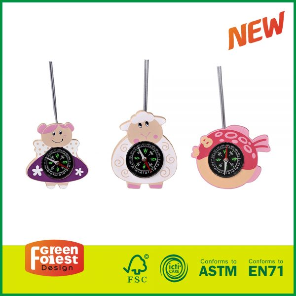 20DIS11 High quality EN71 Certified Outdoor Wooden Neck Cord Miragescope Child Play Toys