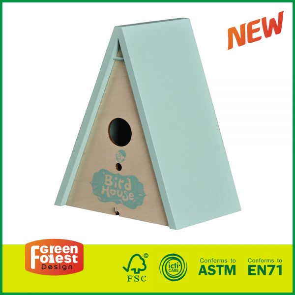 20DIS12B Hot Selling Wooden Outdoor Kids Toy Children's Triangle Bird House