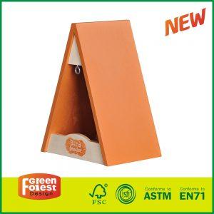 Hot Selling Wooden Garden Toy for Kids Children's Triangle Bird Feeder