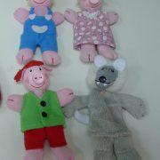 finger puppets-three little pigs